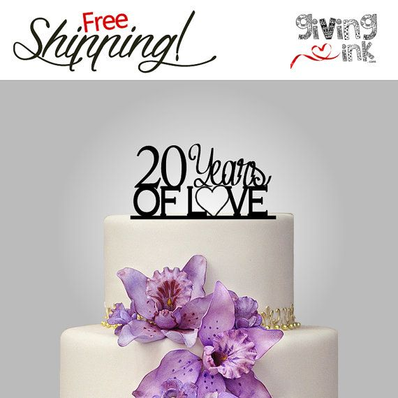 20 Birthday cake topper or Anniversary Cake Topper - Personalized Cake Toppers