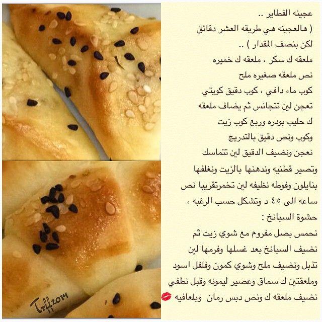 عجينة الفطاير Recipes Food Bread