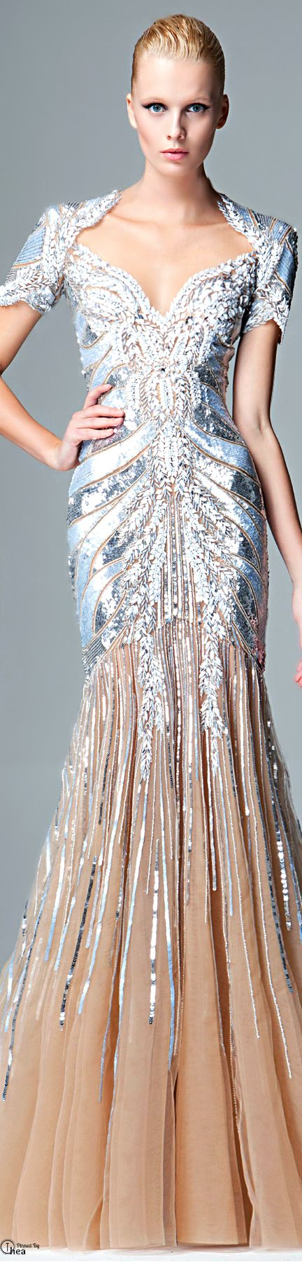 Zuhair Murad ● FW 2014-15 jeweled gown