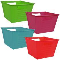 Colorful Square Plastic Locker Bins
