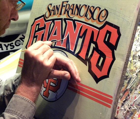 San Fransico Giants baseball Print original by ZekesAntiqueSigns, $12.00