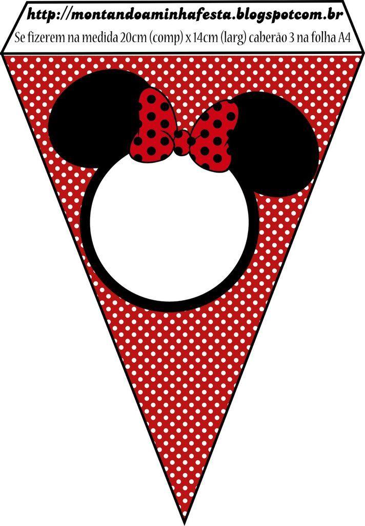 Banderines de Minnie para imprimir | Todo Peques