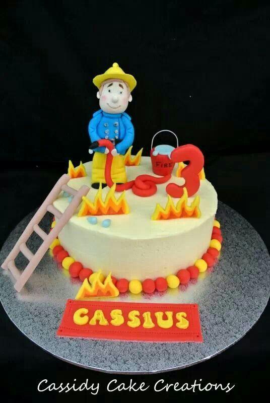 Fire man Sam birthday cake