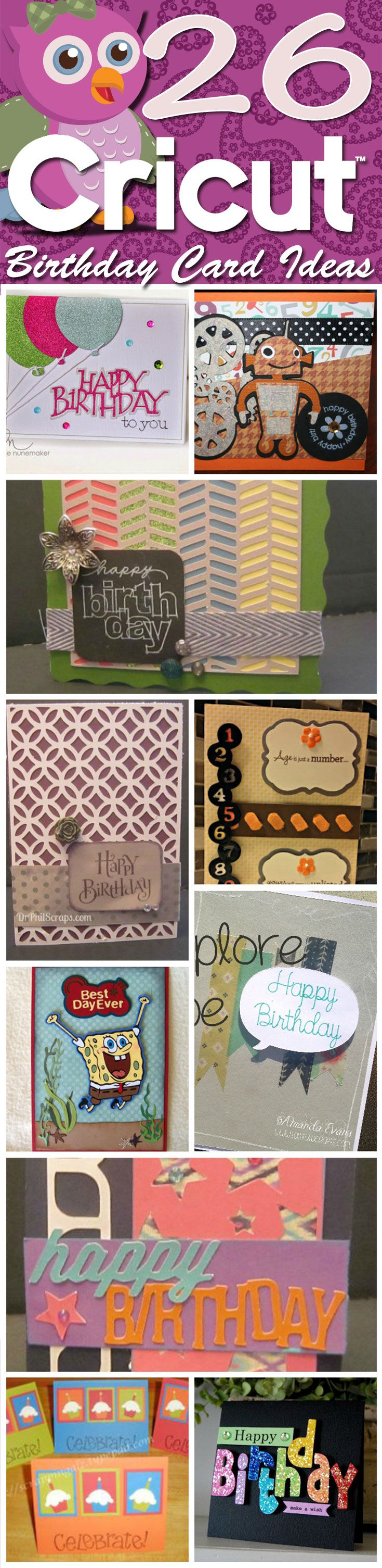 26 Cricut Birthday Card Ideas