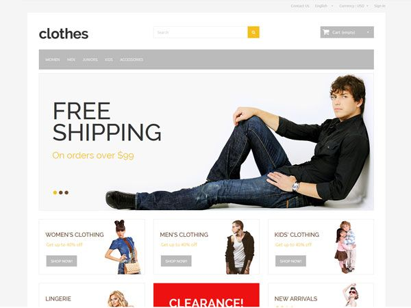 Clothes PrestaShop Theme