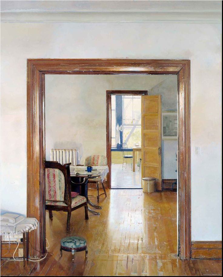 Christopher Gallego   Interior With Three Rooms, Oil On Canvas   90 X 72  Inches