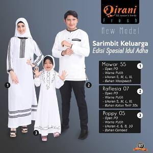 Baju Sarimbit Keluarga Qirani Mawar 55 - Special Idul Adha