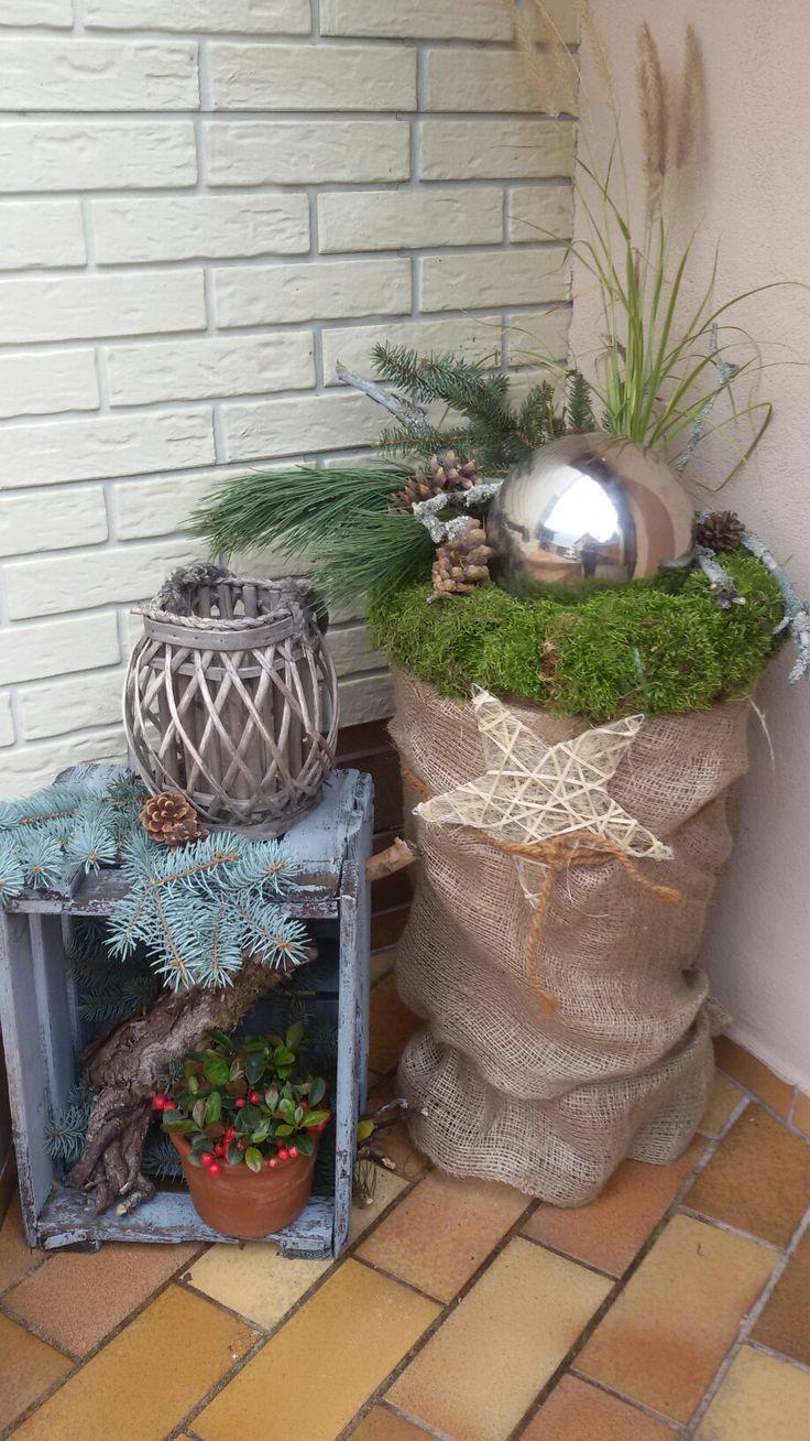 die besten 25 weihnachtlich dekorieren hauseingang ideen auf pinterest deko weihnachten. Black Bedroom Furniture Sets. Home Design Ideas