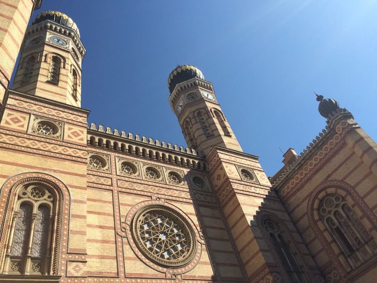 Here's a prettier view of the synagogue.