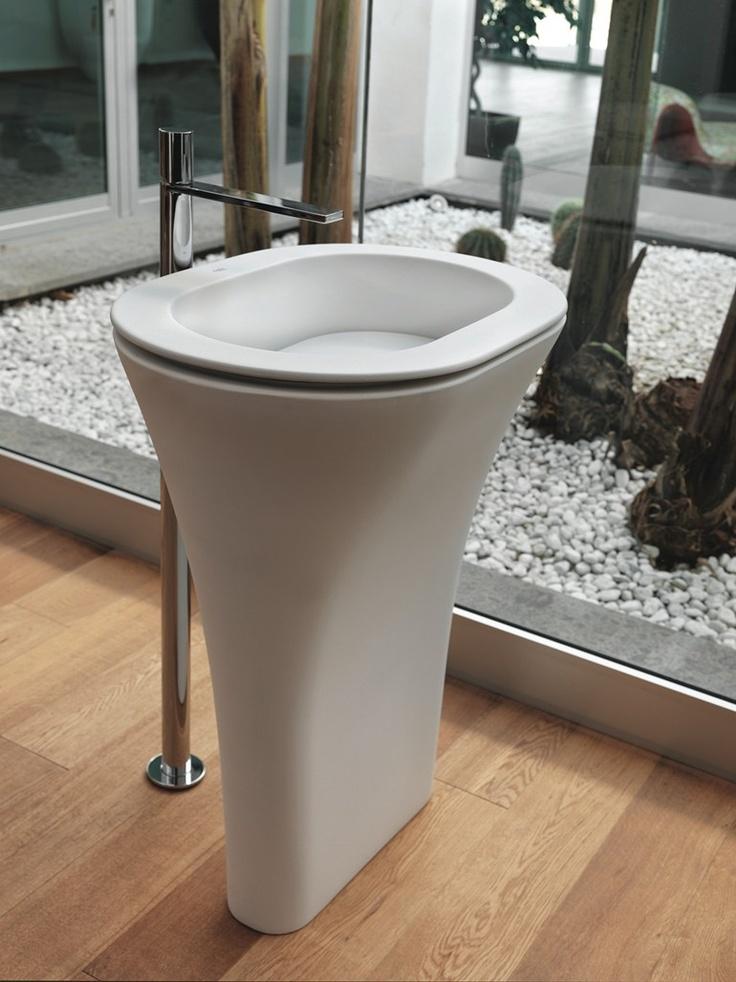 Free standing ceramic washbasin AMEDEO by Ceramica Cielo | design Karim Rashid