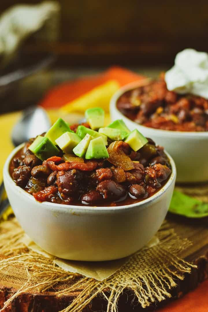 The Best Instant Pot Vegan Chili It S Easy To Make Healthy Quick Uses No Oil And Super Delicious Wfpbrec Vegan Chili Best Vegan Chili Vegan Chili Recipe