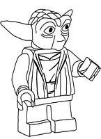 kolorowanki Lego Star Wars Yoda, malowanka do wydruku numer  8