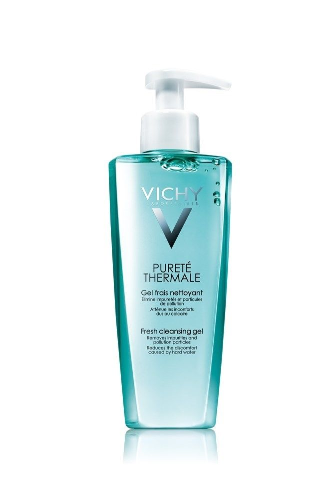 El Gel Fresco Limpiador de la gama Pureté Thermale de Vichy elimina las impurezas y suciedad de la piel del rostro de forma muy delicada. Además ayuda a aliviar las molestias producidas por el agua dura. No reseca la piel.