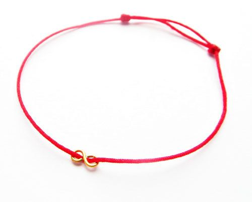 clover yellow karat on baby gold red gallery necklace material string