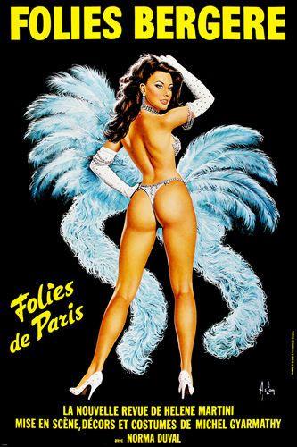 FOLIES BERGERE musical poster SEXY SEMI-NUDE LAS VEGAS STYLE 24X36 - SW0