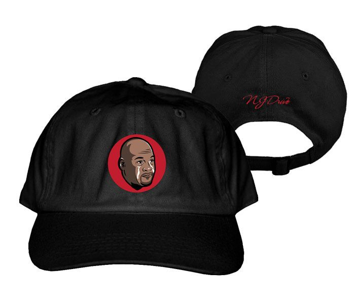 "Jordan 12 Flu Game ""MJ Crying Face"" Dad Hat (Black)"