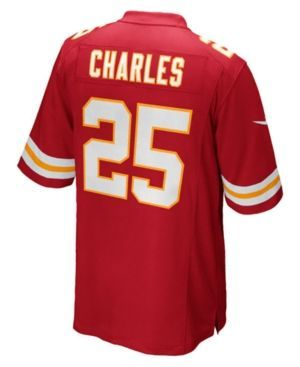 Nike Men's Jamaal Charles Kansas City Chiefs Game Jersey - Red XXL