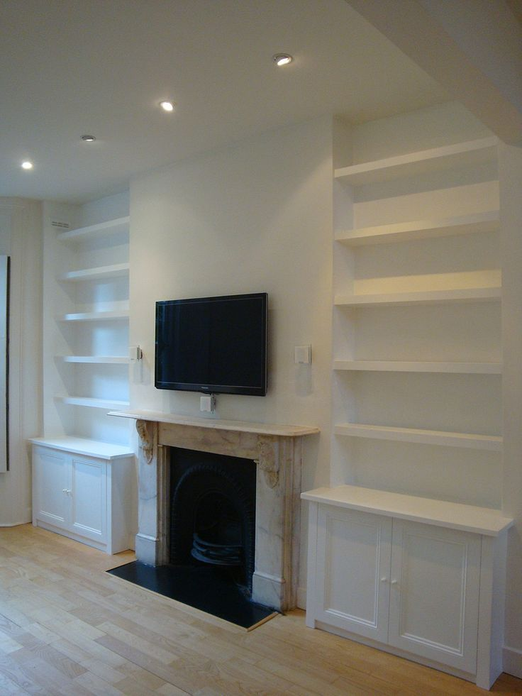Image result for diy fireside alcove cupboards