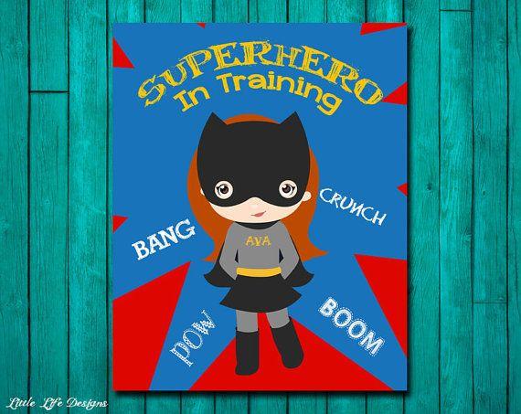 Best Super Héroe Bedroom Images On Pinterest Girls Bedroom - Superhero wall decalssuper hero wall art etsy