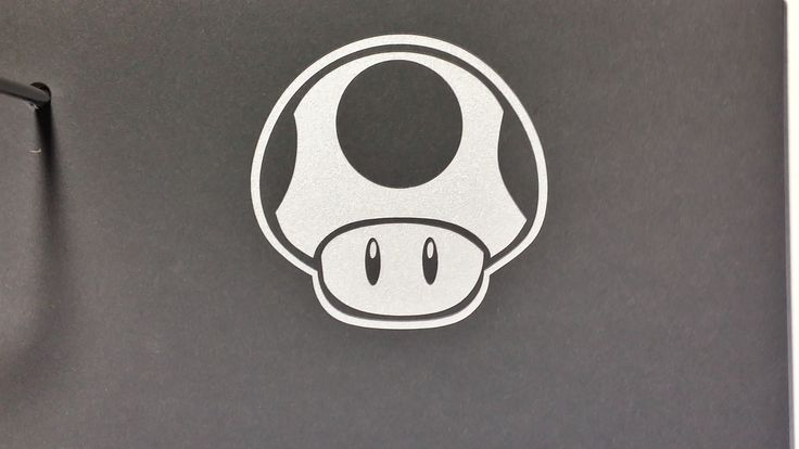 Super Mario Bros 1UP mushroom reflective white/silver sticker