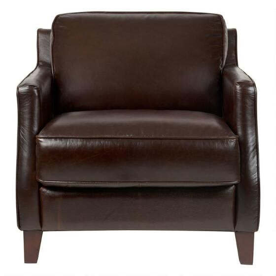 Barton Leather Armchair -Chestnut