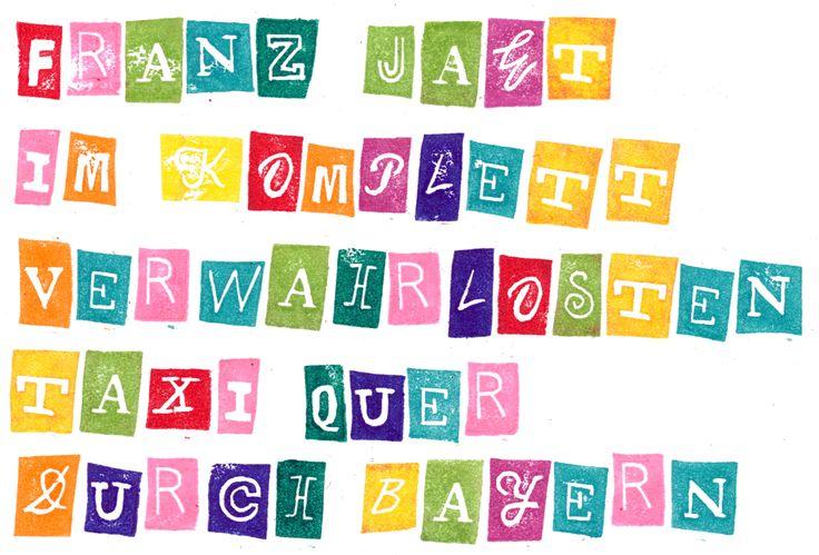 Fee ist mein Name: Bunt, bunt, bunt sind alle meine Buchstabenstempel