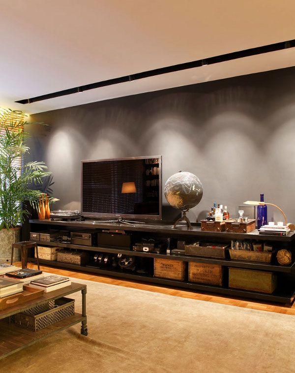 tv furniture / awesome brazilian apartment