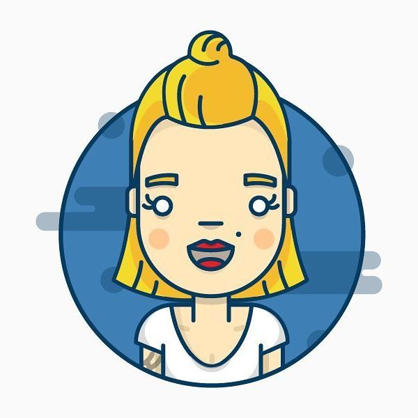 New avatar! Woop Woop! #avatar #girl #illustration #icon #vector #blonde #redlips #dribbble