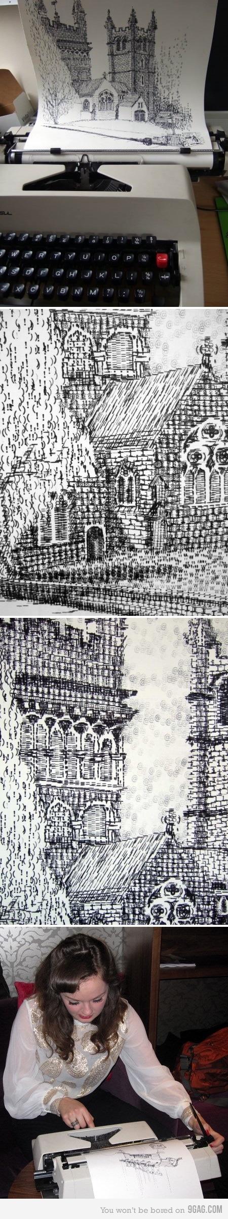 Kiera Rathbone's typewriter art. Fantastic!