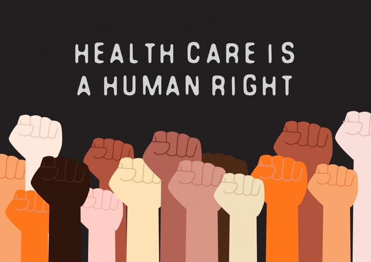 Health care human right movement cards send online