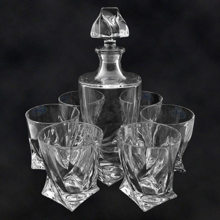 "SHOP-PARADISE.COM:  Набор для виски ""quadro"", графин и 6 стаканов 73,78 €"