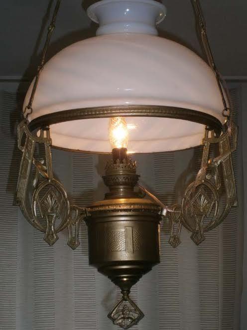бельгийская подвесная лампа -люстра в стиле арт-деко