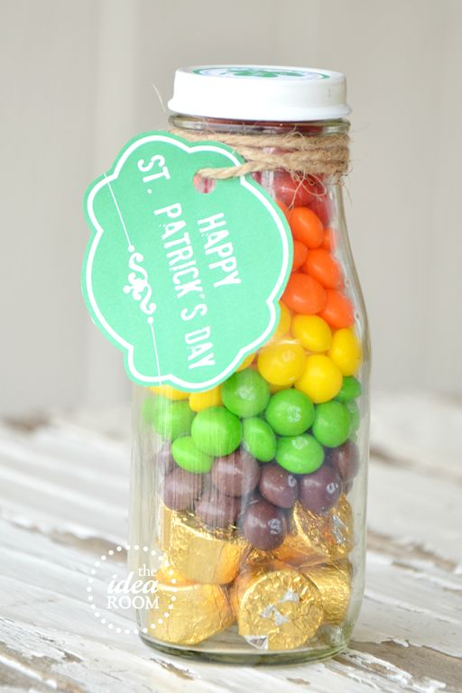 St. Patrick's Day treat idea. Skittles and Rollos... Doesn't get better than that.