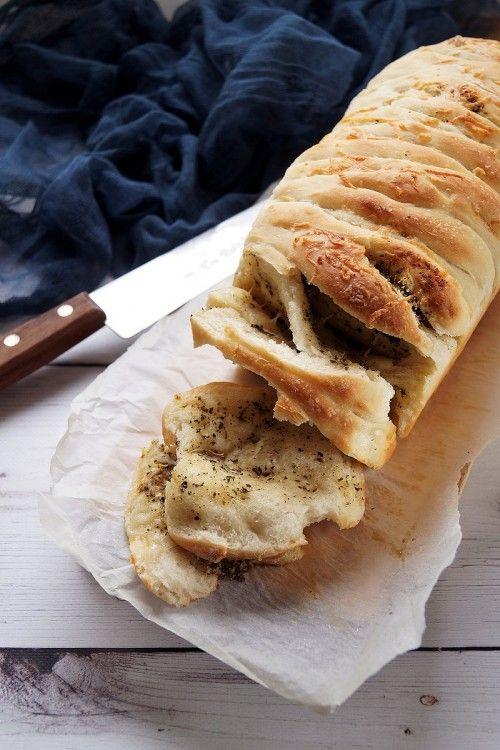 Fűszeres-sajtos hajtogatott kenyér recept