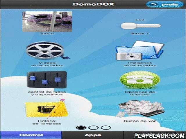 DomoDOX  Android App - playslack.com , DomoDOX es un producto de domotica de última generación fácil, económico, inteligente y móvil. A través de esta aplicación podrás configurar sencillamente tu sistema DomoDOX.El hogar inteligente es ya mucho más que encender la luz con dos palmadas. DomoDOX es libertad, sin cables ni obras. Es ahorro energético. Es control total de tu hogar desde cualquier lugar del mundo.Accede al control y ajuste de tu sistema DomoDOX, tanto desde un Smartphone o…
