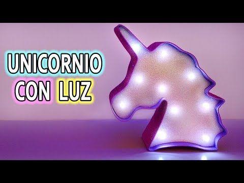 UNICORNIO CON LUZ! Ideas para decorar tu cuarto DIY - YouTube