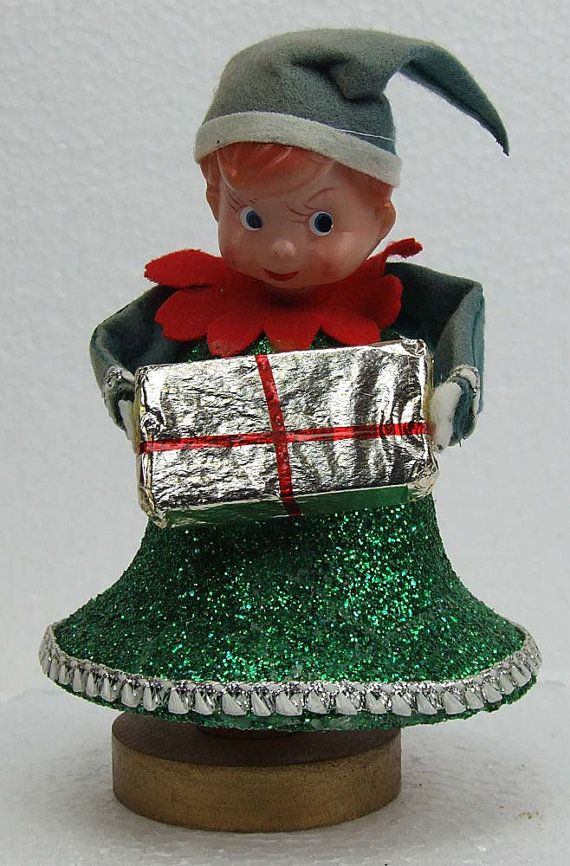 Vintage Retro Kitsch 1960s Elf Christmas Bell By