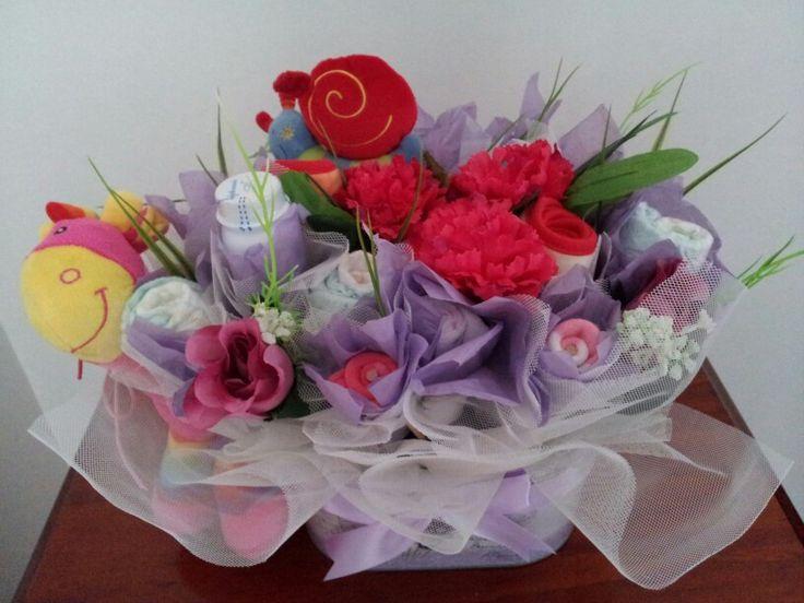 Baby girl bouquet of essentials