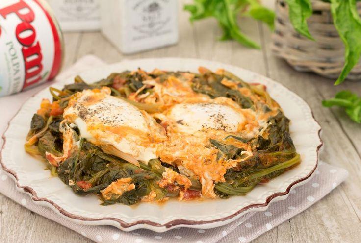 Uova con gli spinaci