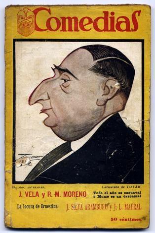 TODO EL AÑO ES CARNAVAL O MOMO ES UN CARCAMAL: FANTASIA HUMORISTICA EN UN ACTO. AUTOR: JOAQUIN VELA Y RAMON M. MORENO. LA LOCURA DE ERNESTINA: COMEDIA EN TRES ACTOS Y EN PROSA. AUTOR: J. SILVA ARAMBURU Y J. L. MAYRAL. 1927. COLECCION: COMEDIAS (EDITORIAL SIGLO XX); 65. http://kmelot.biblioteca.udc.es/record=b1121929~S1*gag