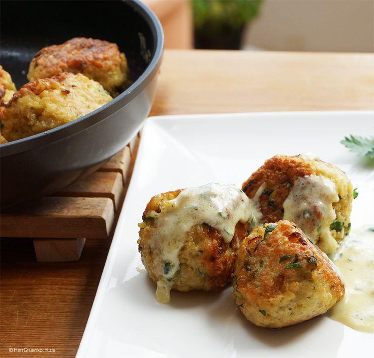 Diese vegetarischen Frikadellen mögen wir im Kochlabor sehr gerne. Sie sind schnell und einfach zuzubereiten. Dazu Pommes Frites oder Gemüse oder einf