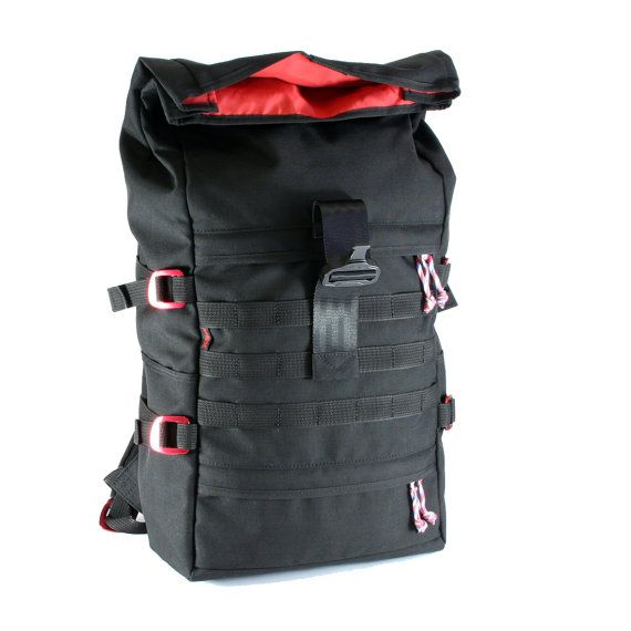 FLASH Molle rolltop backpack by reHOSE on Etsy