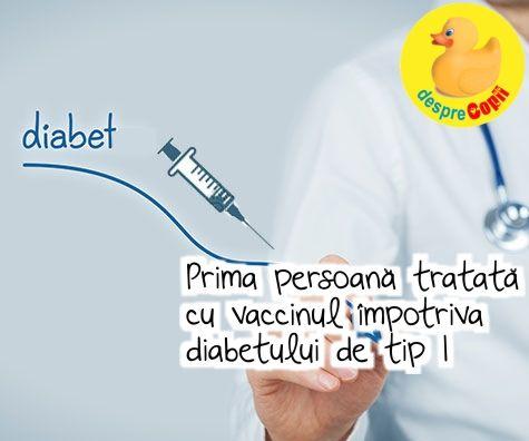 In lupta cu diabetul de tip 1 - cercetatorii olandezi anunta un nou capitol care poate aduce vesti bune pentru milioane de bolnavi de diabet din intreaga lume: Vaccinul impotriva diabetului.   Pentru prima data, o persoana este injectata cu celulele propriului sistem imunitar, tratate in scopul de a-l corecta si prin urmare, de a vindeca diabetul.