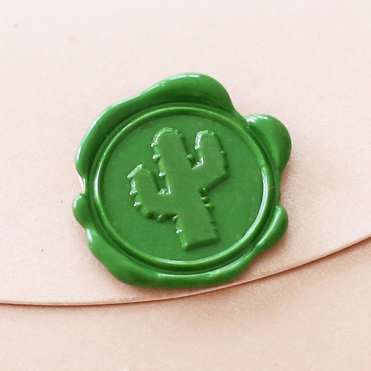 Cactus plant Wax Seal Stamp/ invitation wax seals/plant wax stamp/--WS – DokkiDesign