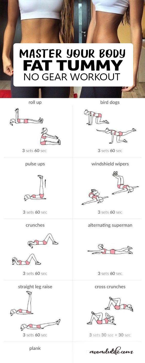 Hast du zu viel bauchfett Bauchfett werden Sie von Diät-Workout-Typen sein