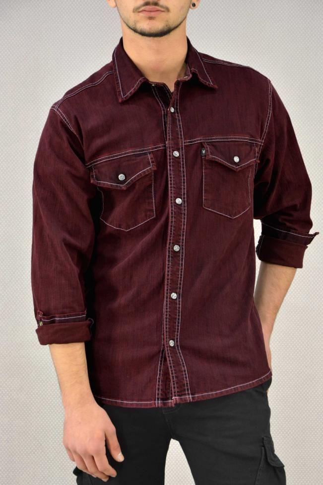 Ανδρικό πουκάμισο με εξώραφα  POUK-1643 Πουκάμισα - Άνδρας | Metal Deluxe
