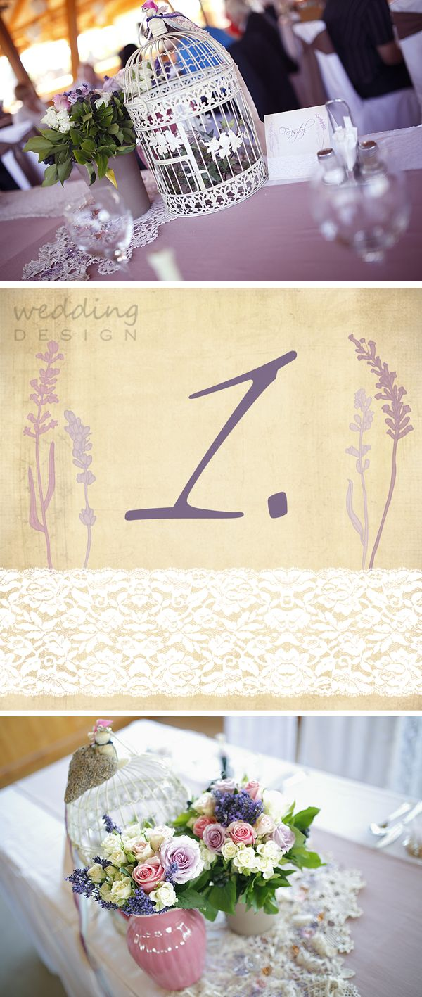 The hungarian Provence with lace and lavender - A magyar Provence csipkével és levendulával Graphics/Grafika: Wedding Design