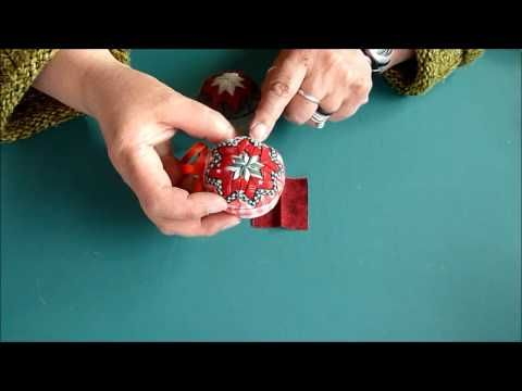 Fabric Folded Christmas Ornament--This little ornament is super, super easy. Based on a favorite technique among quilters - those famous prairie points - there is actually no sewing involved! This is a great project to work on while watching TV