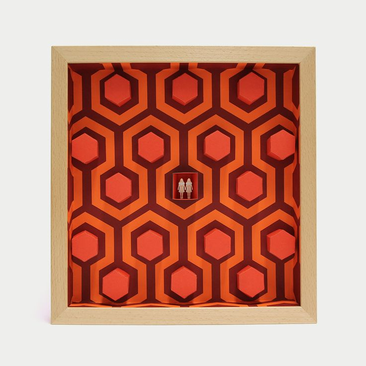 """The Shining - 3D papercut minuature - 175€ - http://www.thesmallestboy.com/en/shop/ """" Come play with us. Forever…ever…ever """" Three dimensional paper artwork inspired in Stanley Kubrick movie """"The Shining"""". Limited edition, 100 copies."""