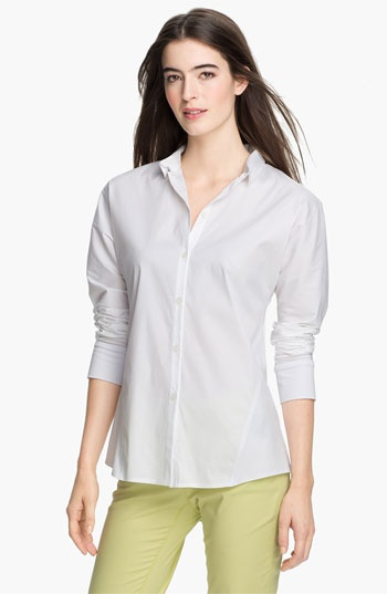 Lafayette 148 New York Mix Media Blouse available at Nordstrom.   Love it!